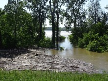 Mississippi River overflowing its bank